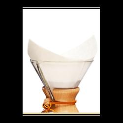 Kahveciniz - Chemex Uyumlu Filtre Kahve Kağıdı 5-8 Cup 100 Li