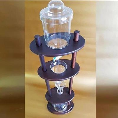 Uzun Ahşap Soğuk Kahve Demleme Seti Tekli