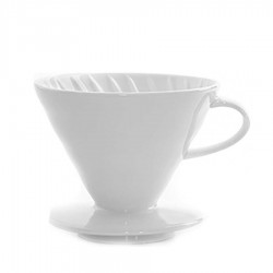 Kahveciniz - V60 02 Beyaz Seramik Dripper