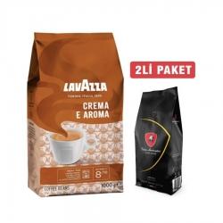 Lavazza - Lavazza Crema E Aroma Çekirdek Kahve 1 Kg + Tonino Lamborghini Filtre Kahve 192 Gr
