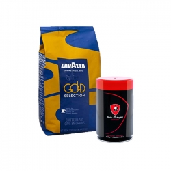 Lavazza - Lavazza Gold Selection 1 Kg & T.Lamborghini 250 Gr Espresso Çekirdek Kahve Hediyeli