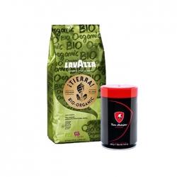 Lavazza - Lavazza Tierra Bio-Organic 1 Kg & T.Lamborghini 250 Gr Espresso Çekirdek Kahve Hediyeli