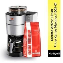 Melitta - Melitta Aroma Fresh Filtre Kahve Makinesi 1021-01 & Grande Millenium Çekirdek Kahve 1 Kg Hediyeli !