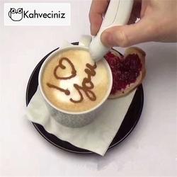 Kahveciniz - Pilli Latte Sanat Art Kalemi (1)