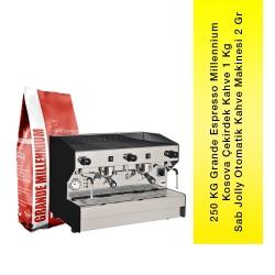 SAB JOLLY - Sab Jolly Kahve Makinesi 2 Gruplu + 250 Kg Grande Espresso Millennium Kosova Çekirdek Kahve 1 Kg