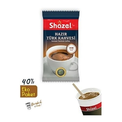 Shazel - Shazel Hazır Türk Kahvesi Eko Kutu 40 Adet Bardaklı-Sade