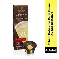 Tchibo - Tchibo Cafissimo Caffe Crema XL Kapsül Kahve 4 Lü Set